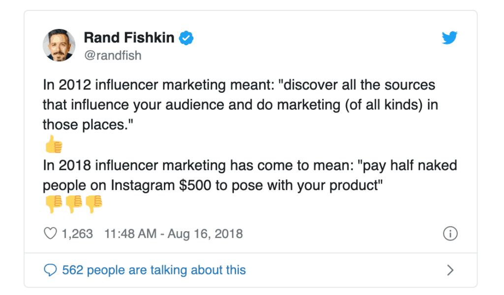 Rand Fishkin on influencers